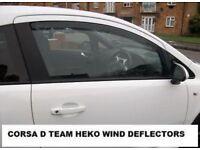 Vauxhall Corsa D Tinted Wind Deflectors(Fits 2007-2015 3 Door Corsas)