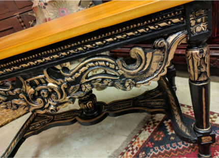 Vintage Ornate Coffee Table Empire Style Kauri Luxe