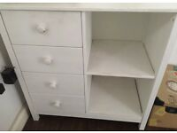 White Scandinavian drawer