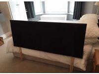 Black suede-style headboard - Kingsize double