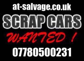 Scrap my car £150+ scrap a van scrap cars cash same day Collection Scrap a car at-salvage