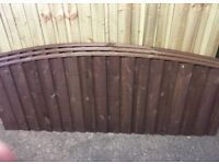 Heavy Duty * High Quality Arch Top Feather Edge Fence Panels