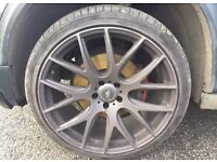 "22"" alloy wheels with tyres."