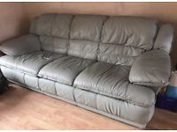3 seater + 2 seater real leather sofas DFS