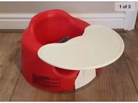 Baby Bumbo Seat & tray RED