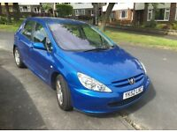 Peugeot 307 2.0 HDI Rapier Metallic Blue 52(02) - spares or repair