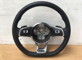 Vw golf Gtd mk7 leather multifunction dsg steering wheel paddle shift caddy 2013-2017