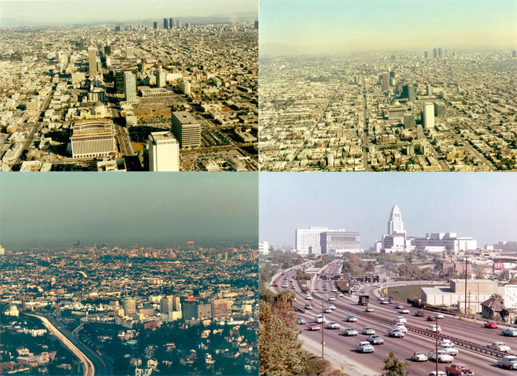 CITY SHOTS OF LA- EARLY 1970S- SET OF 4