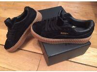 Rihanna Fenty Creepers Puma Black Oat Sole Girls Women Female Shoes Footwear Trainers