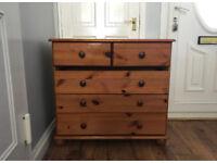 Solid oak wood drawers