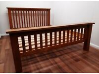 Solid Oak Double Bed Frame, Great Condition