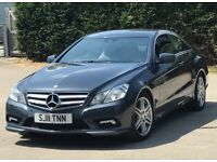 2011 Mercedes-Benz E Class Coupe 2,1 litre diesel 3dr automatic 2 owners