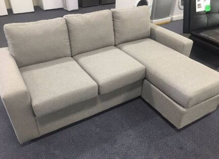 Grey Corner Sofa With Reversible Chaise