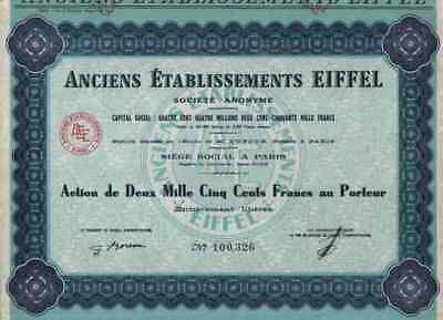 Etablissements Eiffel 1960 Paris Versailles Garabit Cubzac 2500 Credit Lyonnais