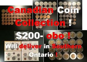 Canadian Coin Collection !  $200- obo !  Will deliver in Souther