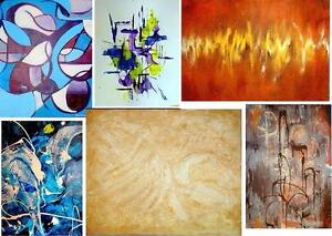 ORIGINAL PAINTINGS NEW Oakville ALL SIZES - XS - HUGE Abstract Art Impressionist Surrealist Colorful CANADIAN CANADA