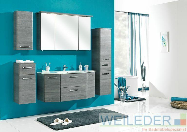Pelipal Alika 6-teilig Waschtisch 112 cm Spiegelschrank und Schränke