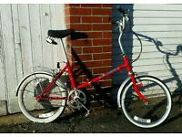 Sovereign 1985 fire red fold up bike in great condition