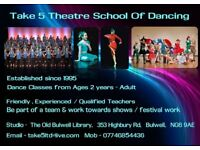 Dance Classes for ages 2 years - Adult