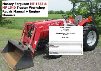 Massey Ferguson Mf 1533 Mf 1540 Tractor Workshop Repair Manual Engine Manuals