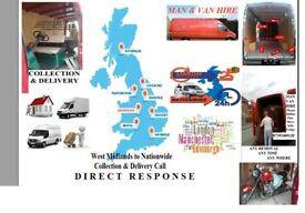 House Removal Self Storage Collection Delivery Man Van Hire Courier Transportation to All UK London