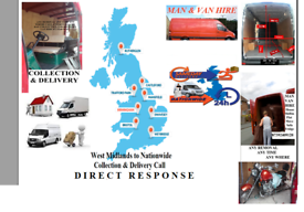 Walsall house removal man & van hire collection & delivery nationwide London Cardiff Exess all UK