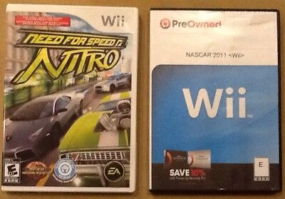 Need For Speed Nitro and NASCAR 2011 The Game Nintendo Wii Racing TESTED ()