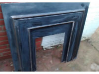 Victorian cast iron fireplace back panel