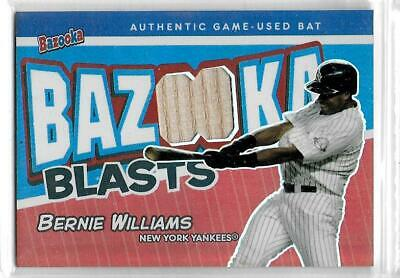 2004 Topps Bazooka Bernie Williams Bazooka Blasts GU Bat Foil Parallel #BBBW /25