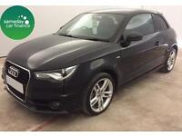 £250.72 PER MONTH BLACK 2014 AUDI A1 1.6 S LINE 3 DOOR DIESEL MANUAL WITH NAV
