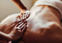 Masseuse trainee or professional for professional massage
