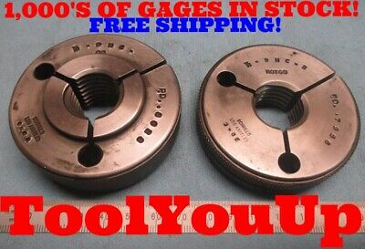 78 9 Nc 2 Thread Ring Gages Go No Go .875 P.d.s .8028 .7958 Inspection