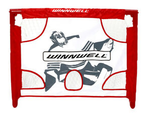 Colapisble mini hockey net, target, 2 sticks, ball and carry