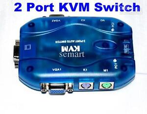 2-port Auto KVM switch MT2718 with cables London Ontario image 1