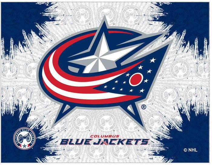 Nhl Columbus Blue Jackets Logo Canvas Hockey Team Logo Ebay