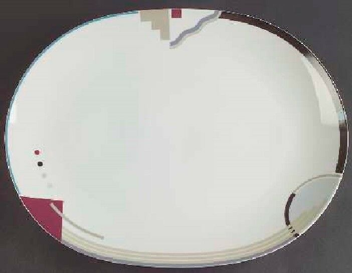 MIKASA STUDIO NOVA ATTITUDES Y0105 LARGE OVAL PLATTER-OTHER PIECES AVAILABLE