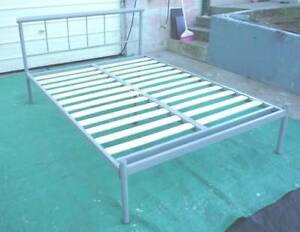 Clean Tubular Double Bed Frame Inala Brisbane South West Preview