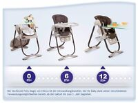 2 chicco polly magic highchairs in cocoa. Twins. From birth. Could deliver.