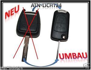 Original 3-Tasten OPEL SIGNUM Schlüssel auf  KLAPPSCHLÜSSEL UMBAU BART  TYPd82