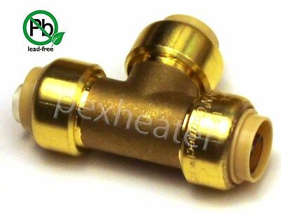 12 Tee Sharkbite Style Push Fit Copper Pex Cpvc Tee Pushnconnect Lead Free