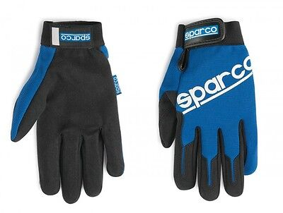 SPARCO Service / Mechaniker Handschuhe - blau / Größe M-