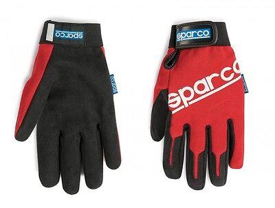 SPARCO Service / Mechaniker Handschuhe - rot / Größe L-