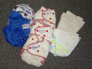 Multiple lots/brands of CLOTH DIAPERS