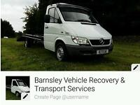 CAR RECOVERY / TRANSPORTATION AND DELIVERY SOUTH YORKSHIRE & UK COVERAGE