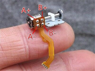 10pcs Dc3v5v 2-phase 4-wire Micro Step Stepping Stepper Motor With Slide Screw