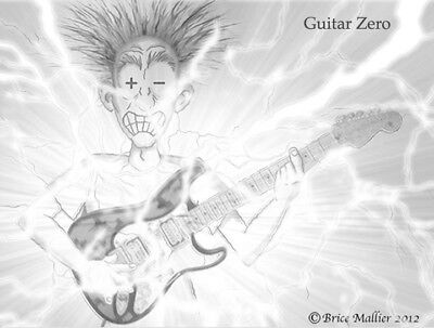 Electric guitar humor drawing