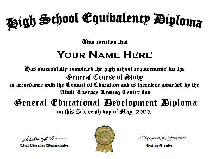 #1 Rated Customized High School GED Diploma Replacement PDF sent within 24 hrs