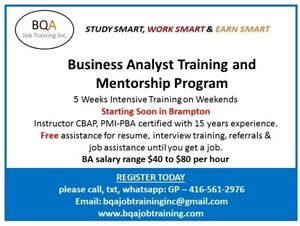 EARN $40-80/HR - JOIN BUSINESS ANALYST COURSE ON 14 OCT WEEKENDS