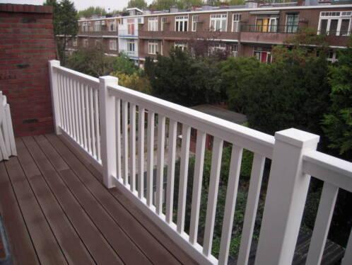 Kunststof balkonhek balustrade hekwerk dakterras omheining for Tegels voor dakterras