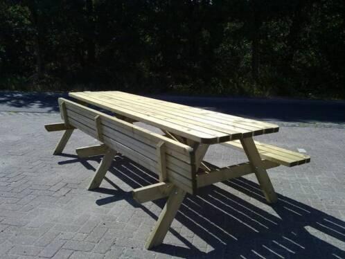 Beste ≥ Goedkope Picknicktafel 3 meter HOUT Picknickbanken OP=OP MS-58